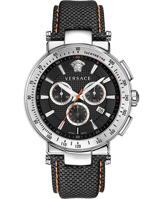 Versace Men's MystiqueChronograph Tachymeter Watch 46mm