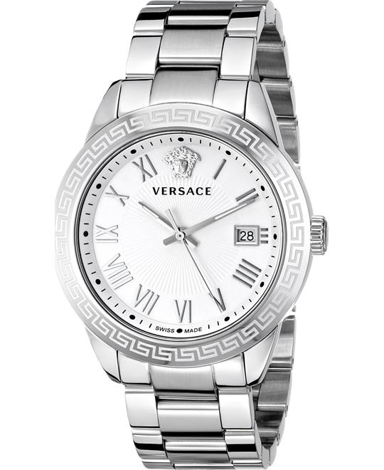Versace Men's Pair Analog Silver Watch 41mm