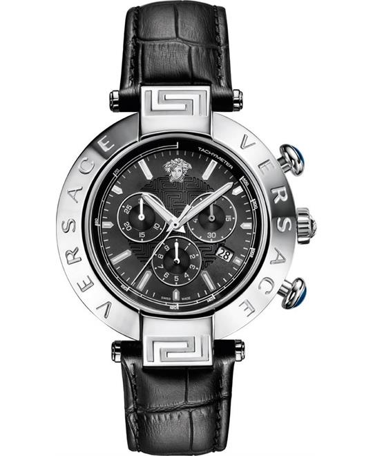 Versace Men's REVE CHRONO Analog Display Black Watch