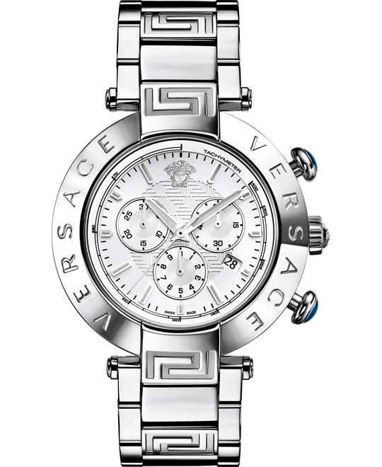 "Versace Men's ""Reve"" Stainless Steel Watch 46mm"