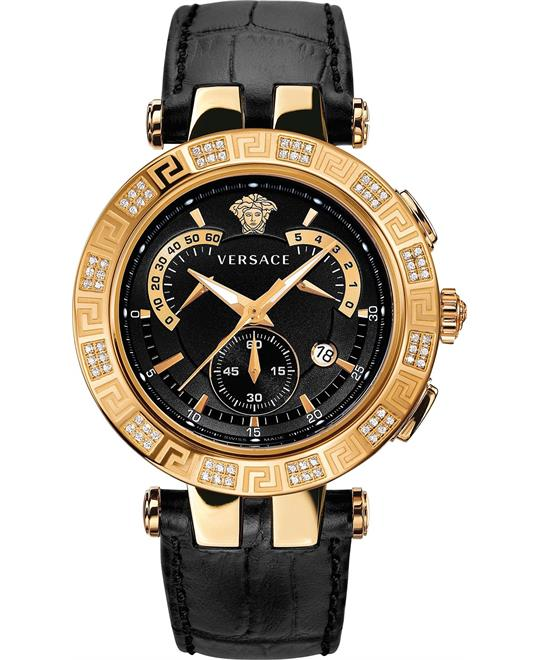 Versace V-RACE CHRONO Men's Swiss Diamond Watch 46mm