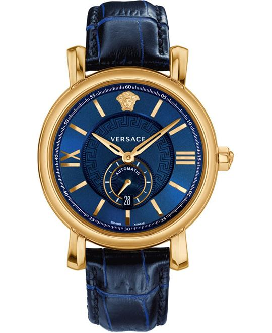 Versace Men's URBAN GENT Automatic Self Wind Blue Watch 44mm