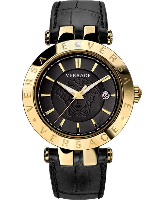 Versace Men's V-Race Quartz Black Watch 42mm