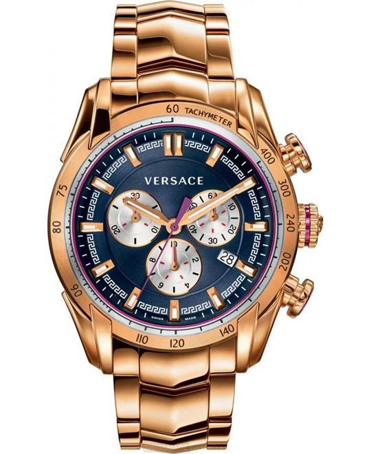 Versace Men's V-Ray Rose Gold Ion-Plated Watch 44mm