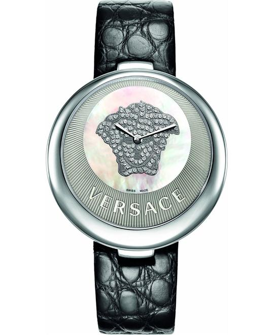 Versace Mother of Pearl Dial Diamond Watch 40mm