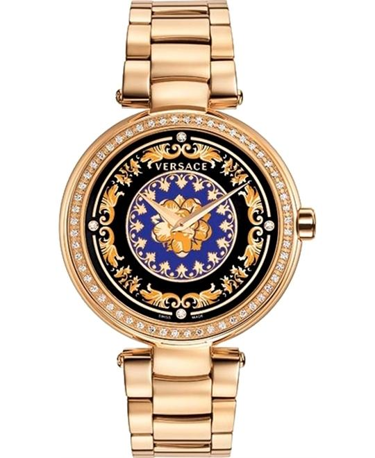 Versace Mystique Foulard Rose Diamond Watch 38mm