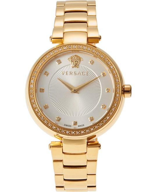 Versace Mystique Quartz Gold Watch 38mm