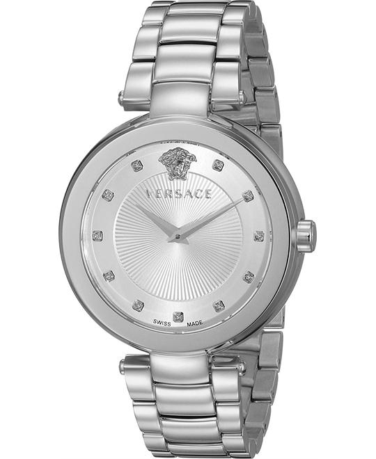 Versace Mystique Quartz Silver Watch 38mm
