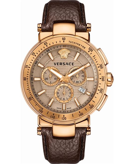 Versace Mystique Sport Brown Men's Watch 44.5mm
