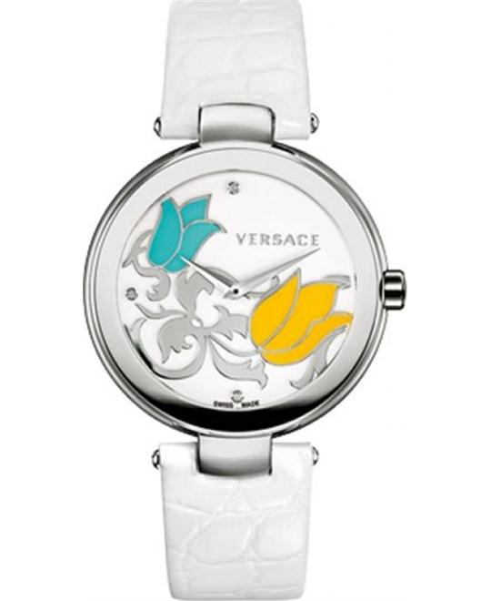 VERSACE Mystique Floral Enamel Watch 38mm