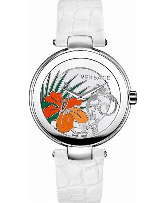 Versace Mystique White Leather Watch 38mm