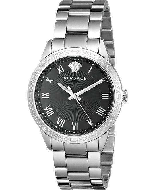 Versace Pair Quartz Silver-Tone Watch 34mm