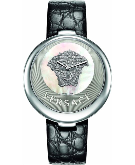 Versace Perpetuelle Diamonds Genuine Alligator Women's Watch 40mm