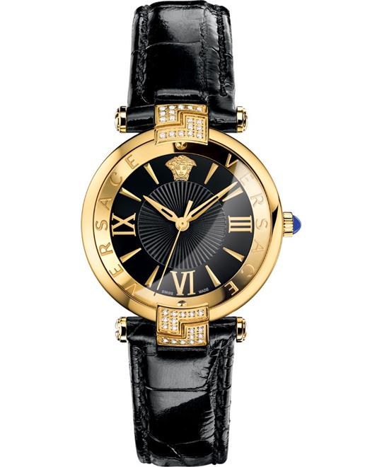 Versace Rêvive Black Enamel Watch 35mm