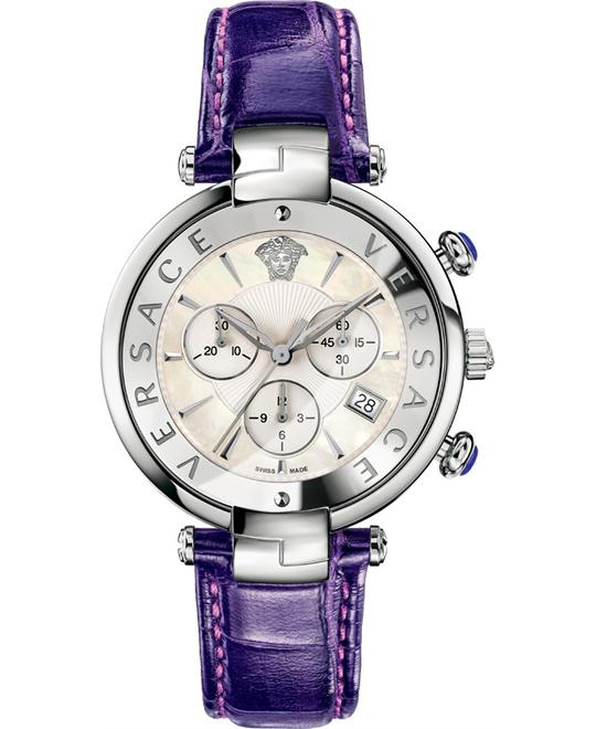 Versace Rêvive CHRONO Violet Date Watch 41mm
