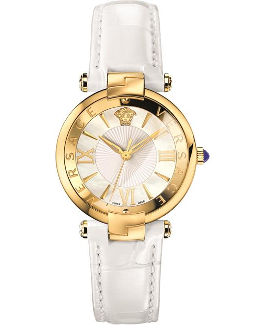 Versace RêVIVE WHITE SHINY LEATHER WATCH 35MM