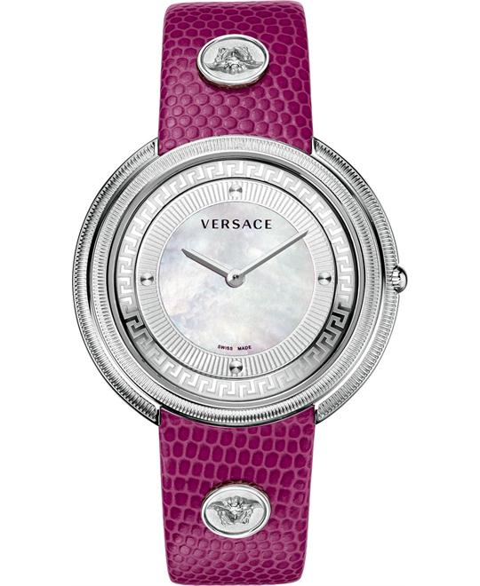 Versace Thea Medusa-Studded Fuchsia Watch 39mm