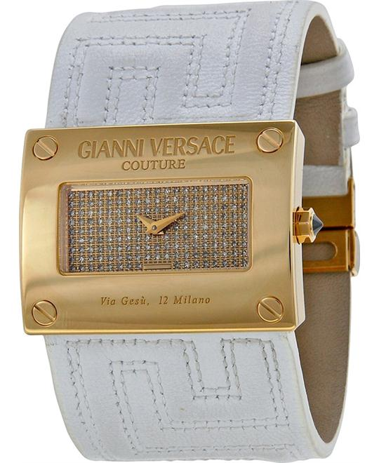 VERSACE V-Couture Gold Diamond Ladies Watch 40mm