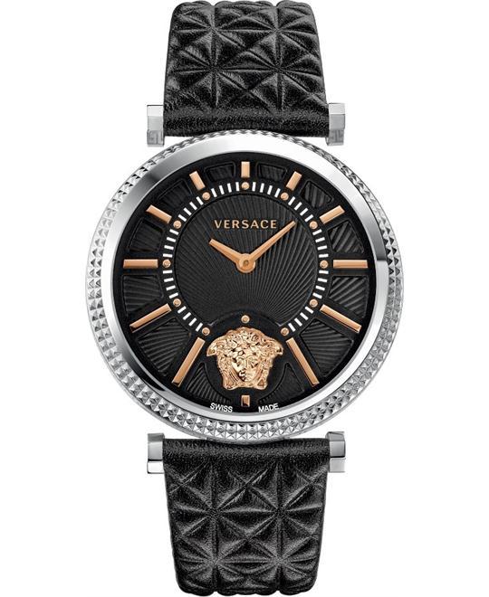 Versace V-HELIX Quartz Black Watch 38mm
