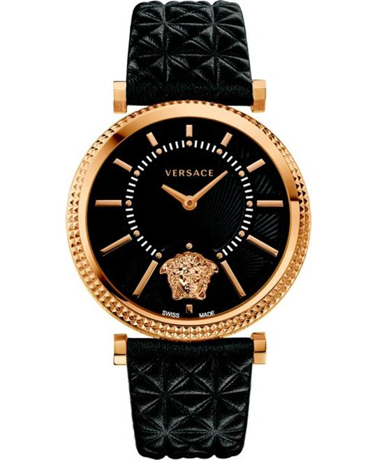 Versace V-HELIX Quartz Black Women's Watch 38mm