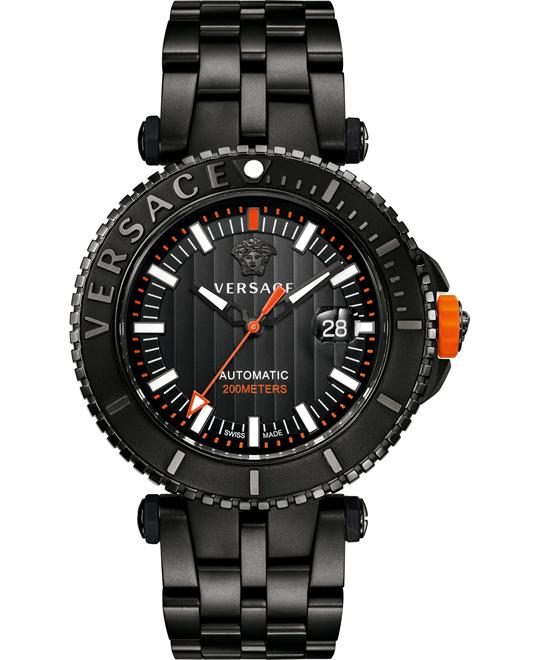 VERSACE V-Race Diver Automatic Watch 46mm