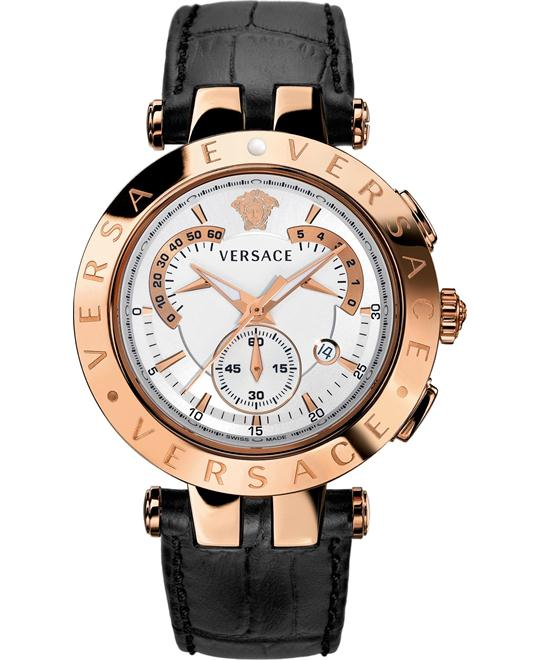 Versace V-Race Rose Gold-Plated Watch 42mm