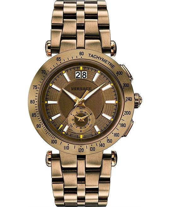 Versace V-RACE SPORT IP Bronze Swiss Watch 42mm