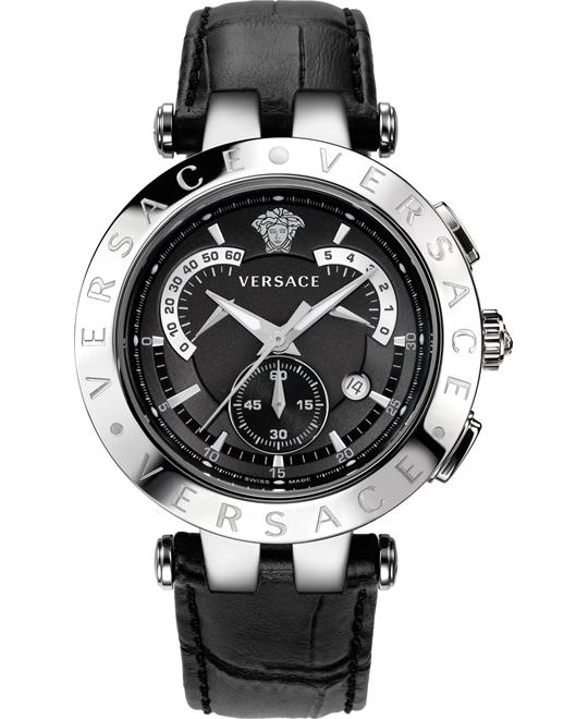 "Versace ""V-Race"" Stainless Steel Men's Watch 42mm"