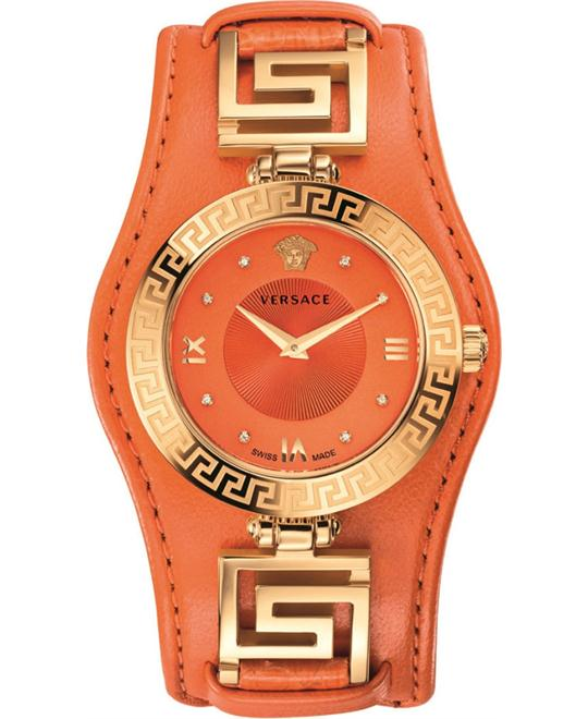 Versace V-SIGNATURE Swiss Orange Watch 35mm
