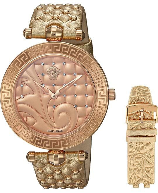 Versace VANITAS Diamonds Gold IP Watch 40mm
