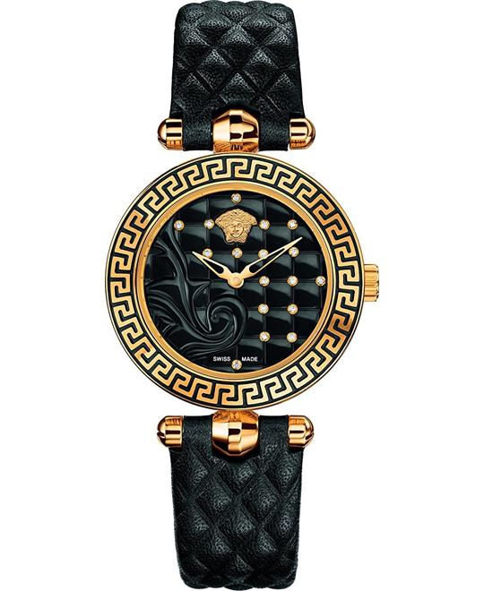VERSACE Vanitas Micro Black Ladies Watch 30mm