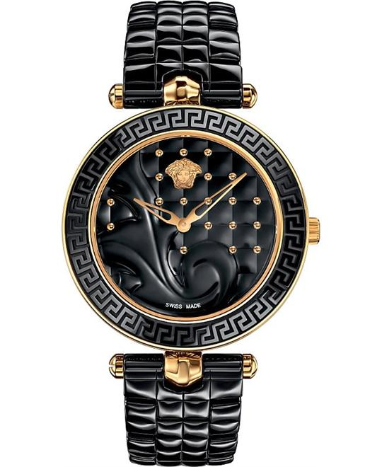VERSACE Vanitas Quilted Ladies Watch 40mm