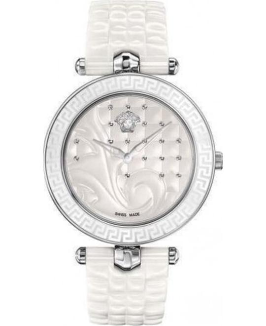 VERSACE Vanitas White Quilted Ladies Watch 40mm