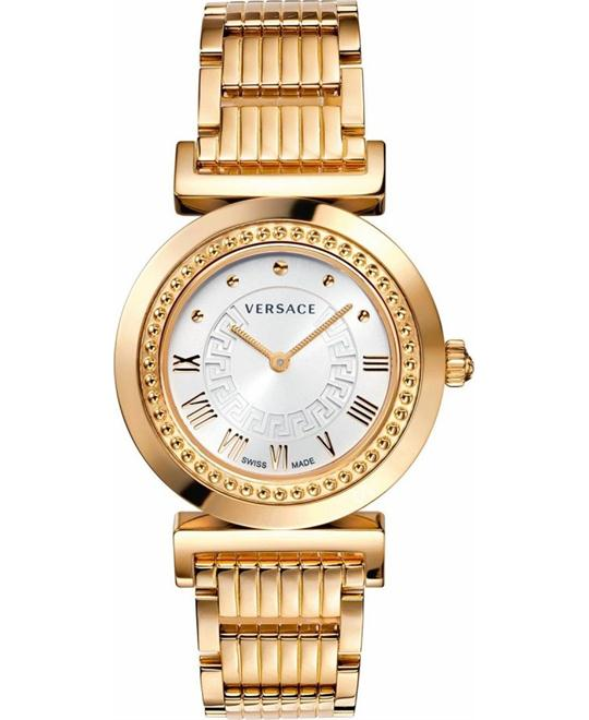 Versace Vanity Collection Gold IP Watch 34mm
