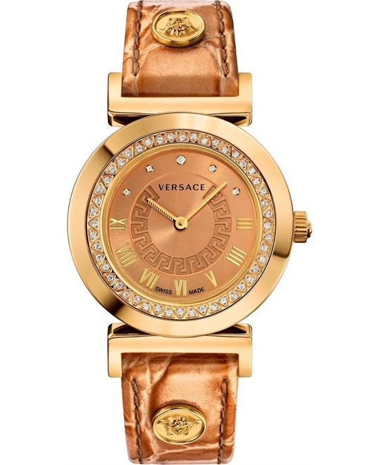 Versace Vanity Diamond Gold IP Watch 35mm