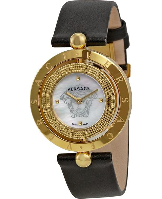 Versace Women's Eon Analog Black Watch 33.5mm