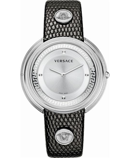 Versace Thea Silver Sunray Women's  Watch 39mm