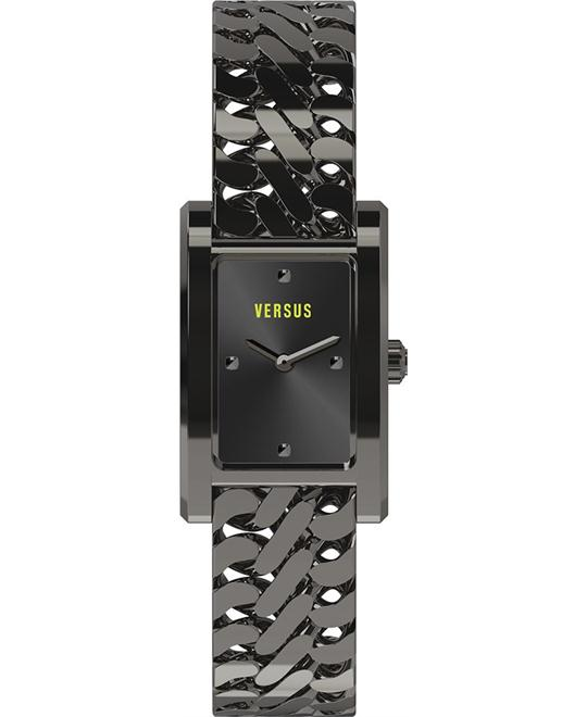 Versus by Versace Runaway Black Rectangular Watch 23mm