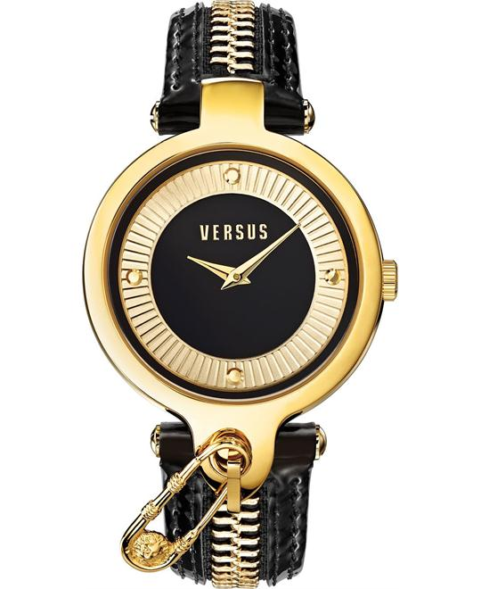 Versus by Versace Women's Gold Leather 38mm