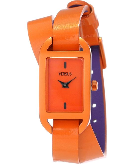Versus Ibiza Orange Orange Leather Watch 20mm