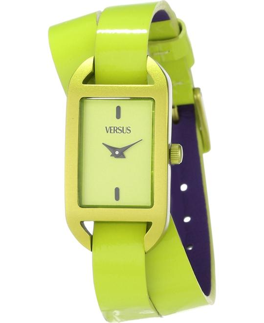 Versus Ibiza Yellow Dial Leather Watch