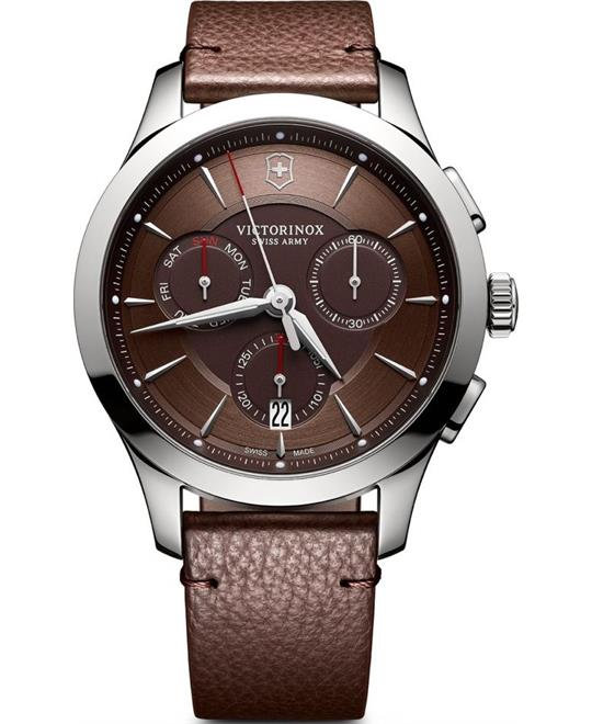 Victorinox Alliance Brown Chronograph Watch 44