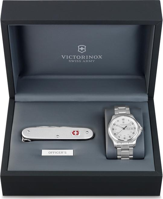 VICTORINOX Set Officer's Day Date & Pioneer Alox Watch 40mm