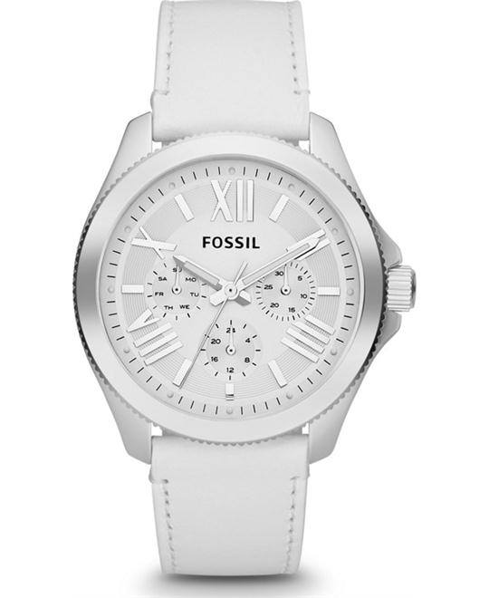 Women's Cecile White Leather Strap 40mm