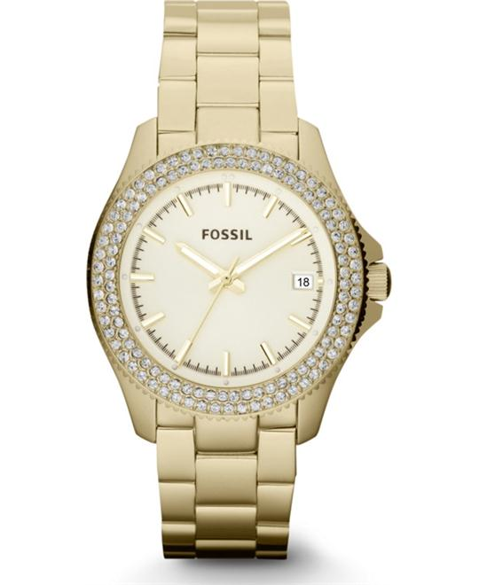 Women's Retro Traveler Gold-Tone Stainless Steel Bracelet 36mm