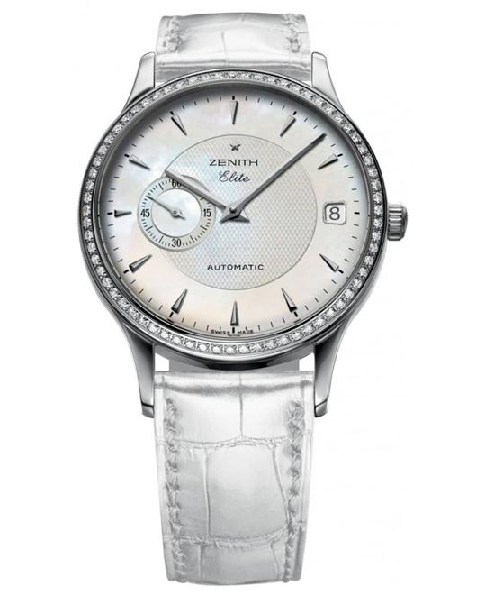 Zenith Ladies Stainless Steel Leather 33mm