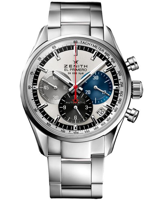 Zenith Mens Stainless Steel Sapphire 38mm