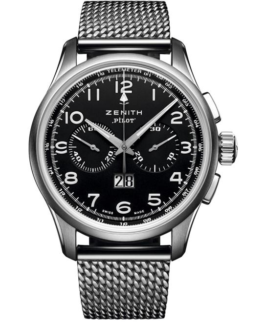 Zenith Mens Stainless Steel Sapphire 42mm