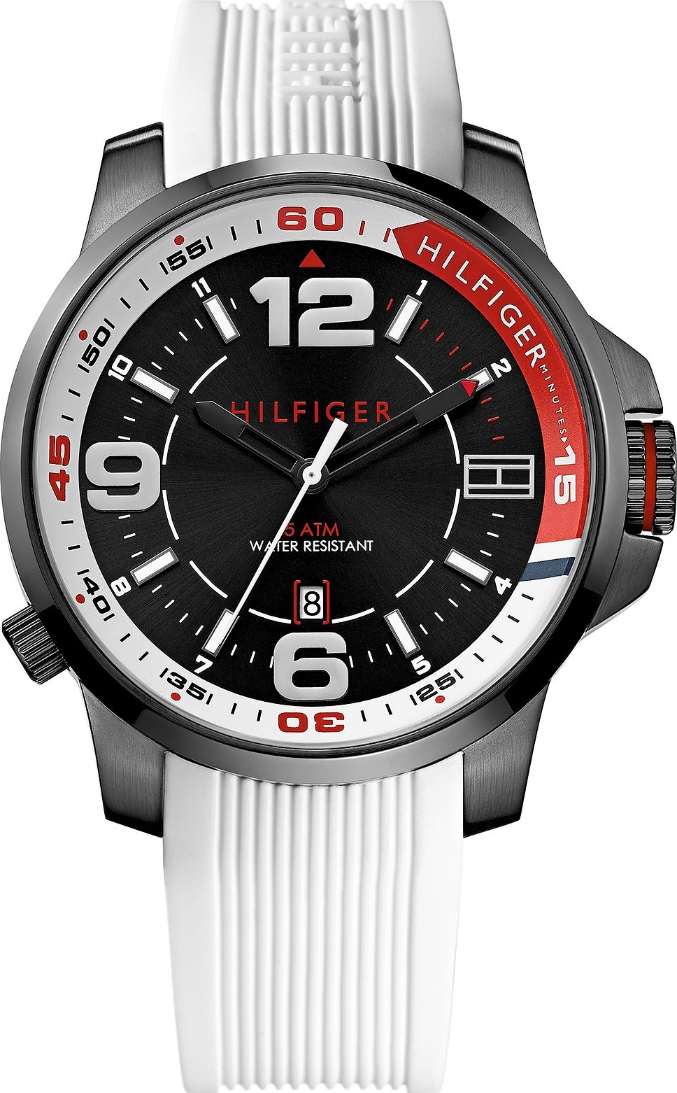 Tommy Hilfiger Men's White Silicone, 46mm