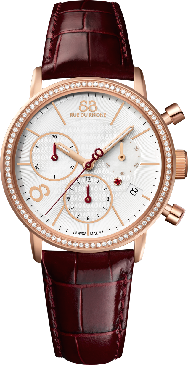 88 Rue du Rhone Swiss Quartz Red Watch 35mm